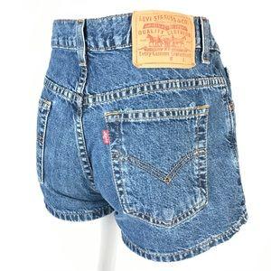 Vintage Levi's high rise jeans shorts